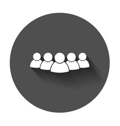 Group of people icon persons icon with long shadow vector