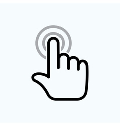 hand is touching vector image