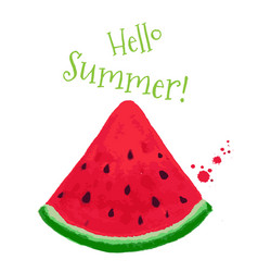 hello summer postcard vector image