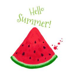 Hello summer postcard vector