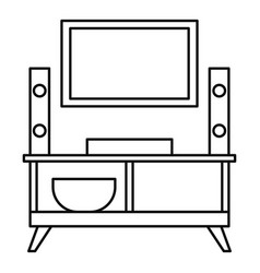 Home tv system icon outline style vector