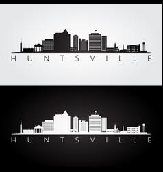 Huntsville alabama skyline and landmarks vector