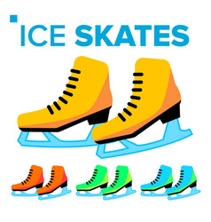 ice skates icon classic female winter vector image