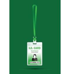 Id card woman green vector