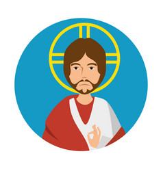 jesuschrist character religious icon vector image