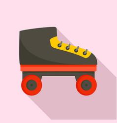 Kid roller skates icon flat style vector