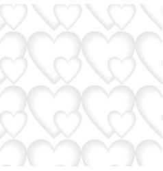 low contrasting heart patterns seamless vector image