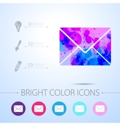 mail icon with infographic elements vector image