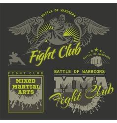 MMA Labels - Mixed Martial Arts Design vector image