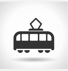 monochromatic tram icon with hovering effect vector image