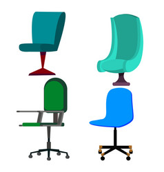 office chair set business furniture vector image