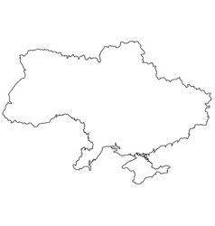 Outline country of the state of ukraine vector