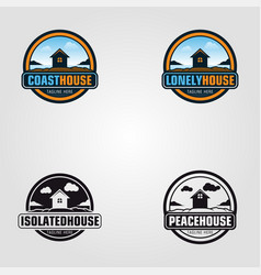 peace house logo template vector image