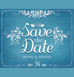 save date wedding invitation vintage card vector image
