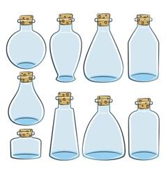 Set of color cans vials bottles vector image