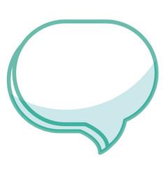 Speech buccle message icon vector