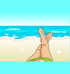 summer vacation at the beach vector image