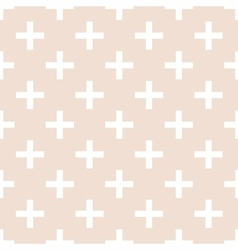 Tile cross plus pastel pattern vector