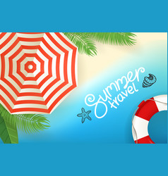 Tropical beach concept summer travel vector