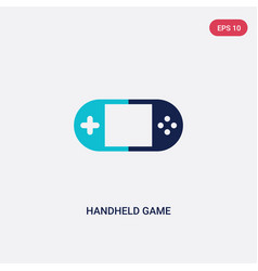 two color handheld game icon from entertainment vector image