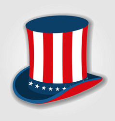 uncle sams hat icon isolated on white background vector image