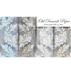 Vintage baroque pattern set beautiful vector