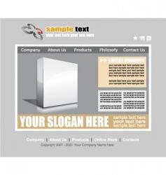 web site elegant template vector image