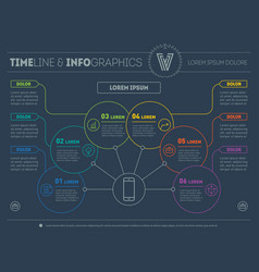 Web template of a info chart diagram or vector
