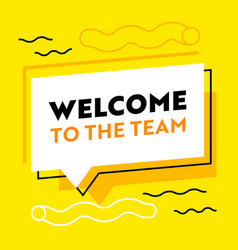 Welcome to team banner for job hiring agency vector