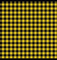 Yellow and black lumberjack seamless pattern vector