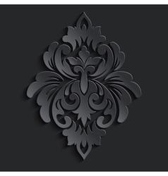 damask volumetric element Dark volumetric vector image