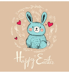 Easter greeting car vector image