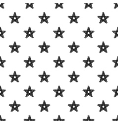 Hand painted seamless pattern dry brush star vector