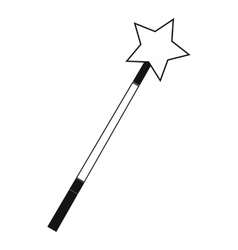 Magic wand black simple icon vector image vector image