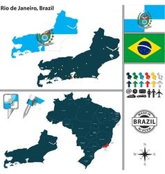 Map of Rio de Janeiro vector image vector image