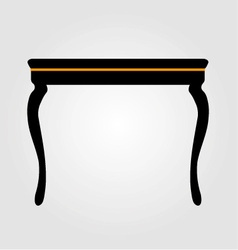 Modern wooden coffee table elevation vector image