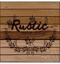 rustic wooden background vector image