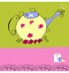 teapot card vector image