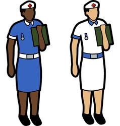 Two nurses vector image