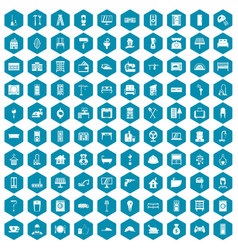 100 comfortable house icons sapphirine violet vector image vector image