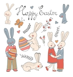 Beautiful collection of Easter related graphic vector image
