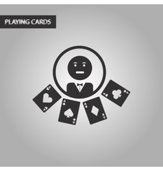 black and white style casino dealer vector image