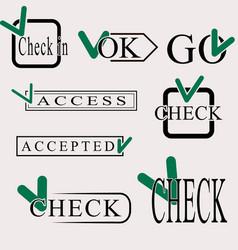 Set of check symbol vector