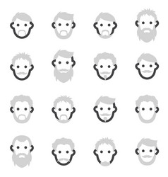 set of icons on the theme of man s beard in vector image