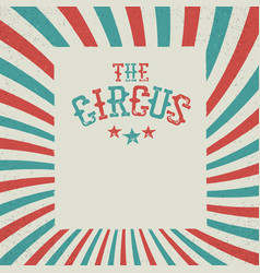 Vintage circus festival background red and green vector