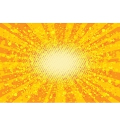 Yellow abstract pop art background retro rays vector image vector image