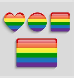 lgbt pride flag rainbow pride symbol vector image