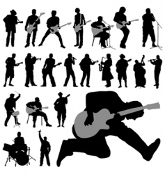 musician set vector image vector image