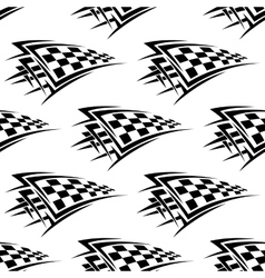 Racing checkered flags seamless pattern vector image vector image