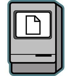 Retro Mac vector image vector image